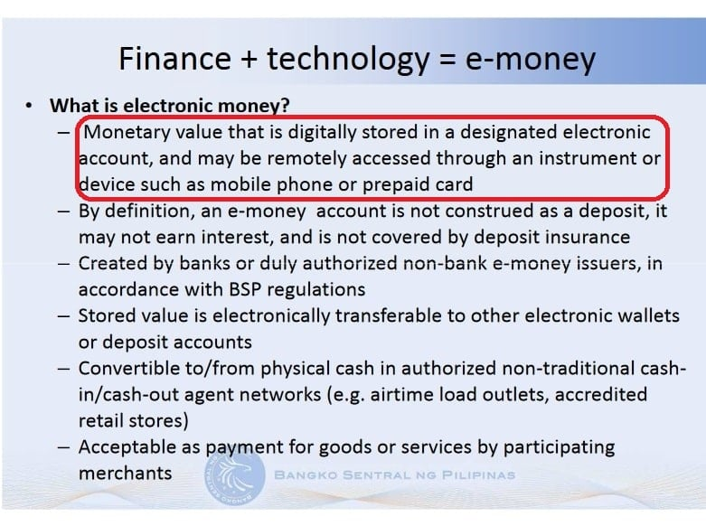 What is electronic money.